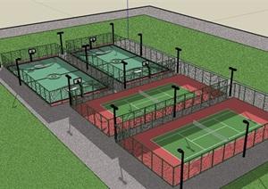 某体育球场建筑设计SU(草图大师)模型