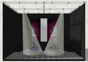 現代簡約舞臺場景SU(草圖大師)模型