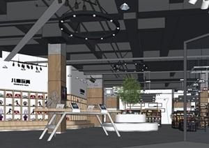 某進口商品專賣店室內設計SU(草圖大師)精細模型