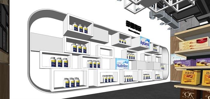 某進口商品專賣店室內設計su精細模型