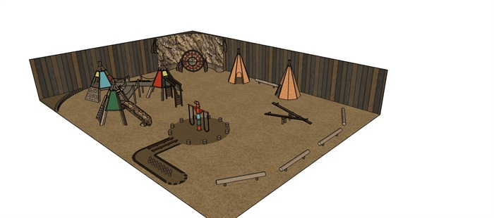 沙漠主題、西部世界兒童樂園(1)