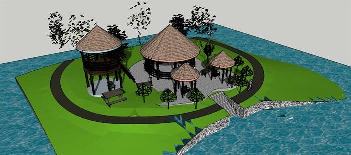 热带地区景观木亭(3)
