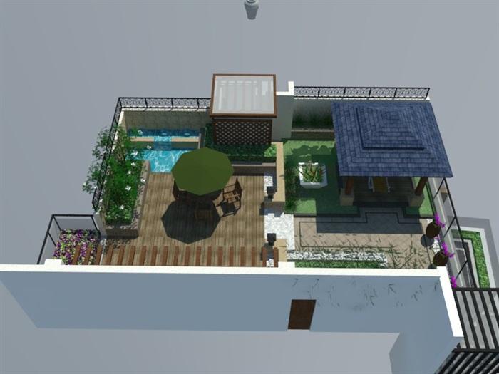 SU草图大师庭院花园模型 (87)(5)