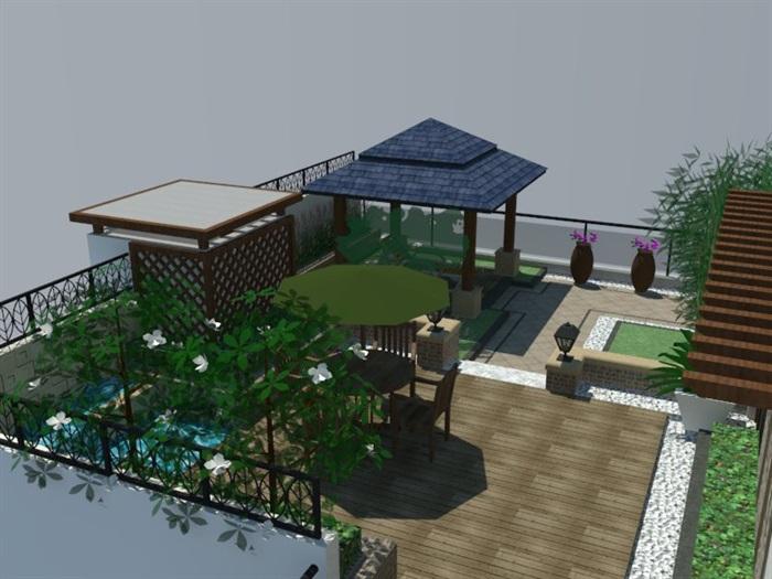 SU草圖大師庭院花園模型 (87)(4)
