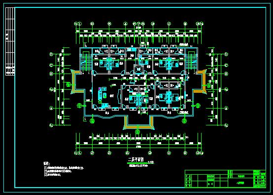 某三层带电梯中式办公楼建筑结构施工图[原创]