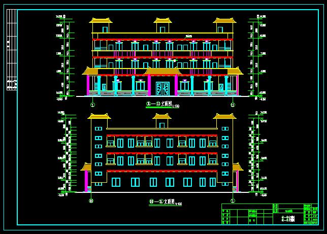 某三層帶電梯中式辦公樓建筑結構施工圖(8)