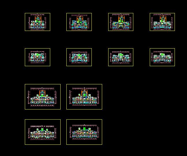 高层户型建筑设计方案图(2)