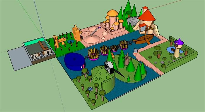 彩色繽紛水上兒童樂園(3)