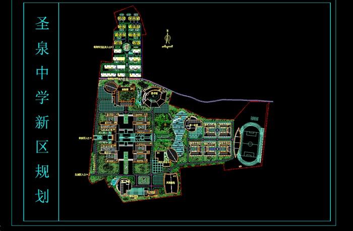 各类大、中、小学校总平面、施工图设计CAD资料(1)