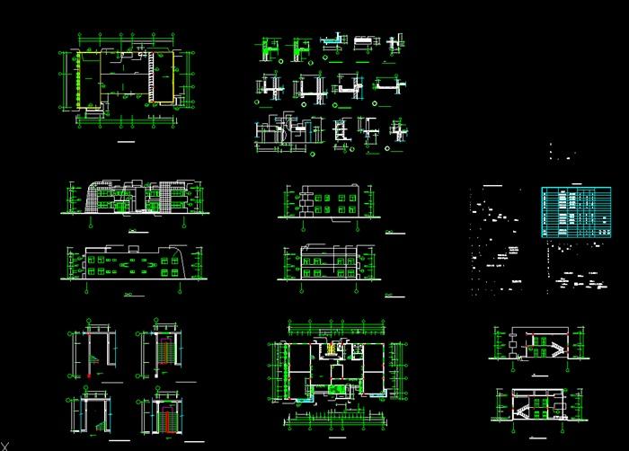 各类大、中、小学校总平面、施工图设计CAD资料(2)