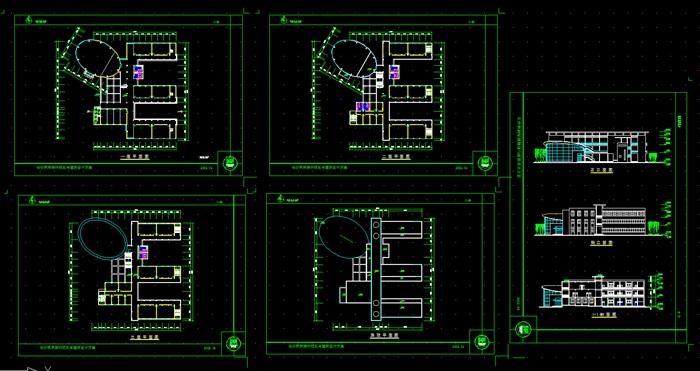 各类大、中、小学校总平面、施工图设计CAD资料(3)