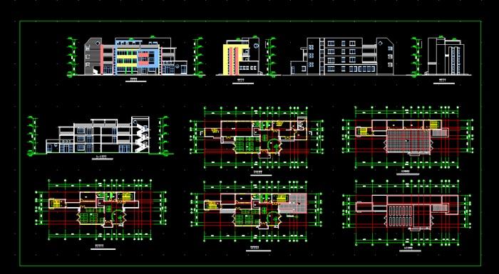 各类大、中、小学校总平面、施工图设计CAD资料(5)