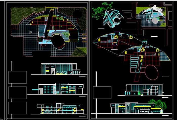 各类大、中、小学校总平面、施工图设计CAD资料(4)