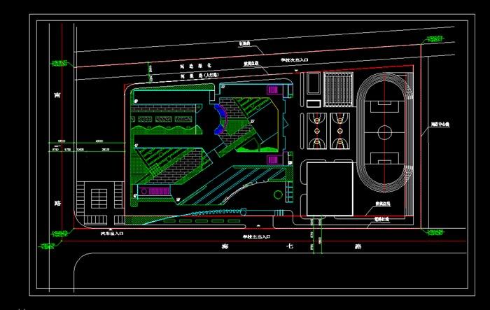各类大、中、小学校总平面、施工图设计CAD资料(6)