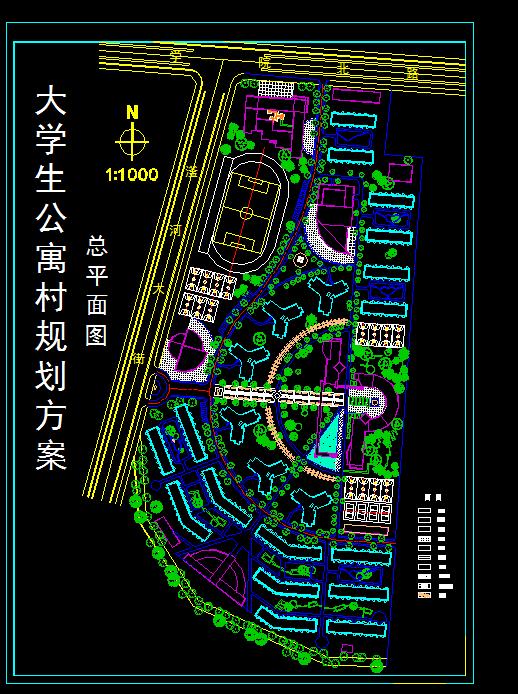 各类大、中、小学校总平面、施工图设计CAD资料(7)
