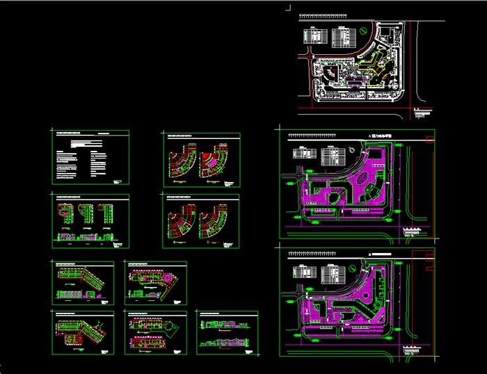各类大、中、小学校总平面、施工图设计CAD资料(8)