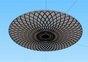 某现代风格顶棚吊顶设计SU(草图大师)模型