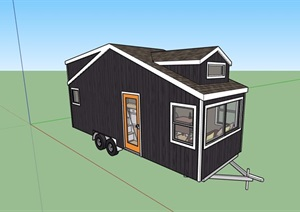 歐式風格住宅房車設計SU(草圖大師)模型