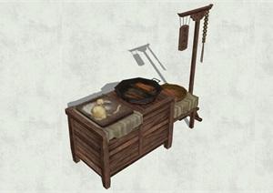 古代物品素材詳細完整設計SU(草圖大師)模型
