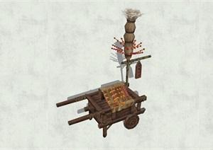 古代物品素材詳細完整設計SU(草圖大師)模型5