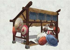 古代人物品素材詳細完整設計SU(草圖大師)模型7