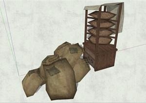 古代人物品素材詳細完整設計SU(草圖大師)模型11