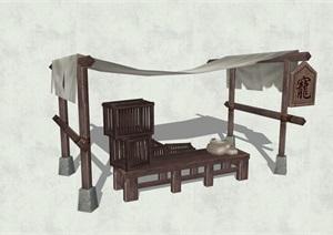 古代人物素材詳細完整設計SU(草圖大師)模型15