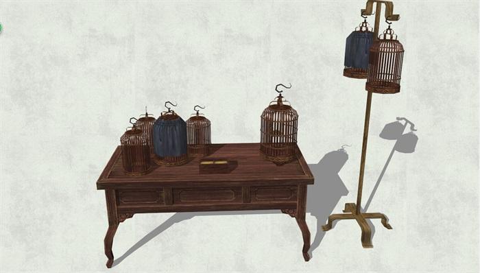 古代人物品素材详细完整设计su模型3[原创]