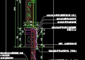 特色灯柱景观灯柱庭院灯施工图详图