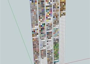 某室内墙面构造设计SU(草图大师)模型