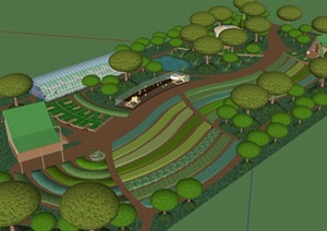 某现代风格农业园设计SU(草图大师)模型