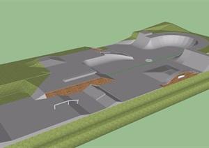 园林景观运动场地建筑SU(草图大师)模型