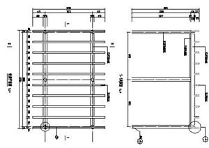 葡萄廊架景觀施工圖 平面、立面、剖面