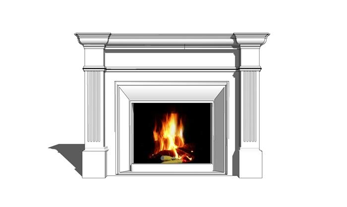欧式壁炉 (1).skp(2)