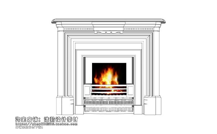 欧式壁炉 (1).skp(3)