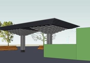中式創意斗拱式涼亭雨棚廊架