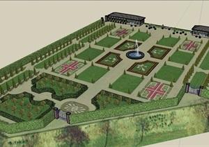 某农业园详细景观SU(草图大师)模型