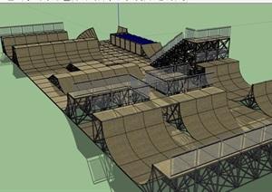 某滑板体育场设计SU(草图大师)模型