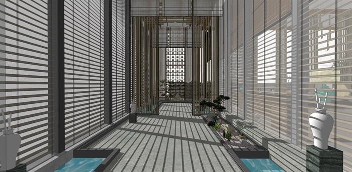 禅意中式会所室内(2)