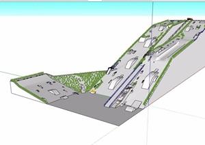 某公园体育场设计SU(草图大师)模型