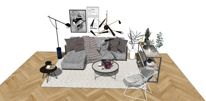室内沙发组合(4)