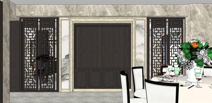 新中式别墅室内(2)