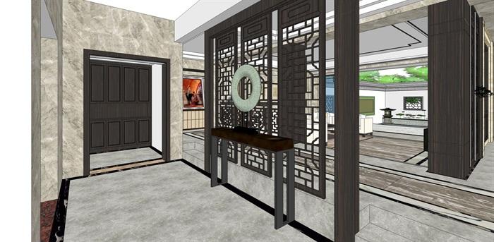 新中式别墅室内(4)