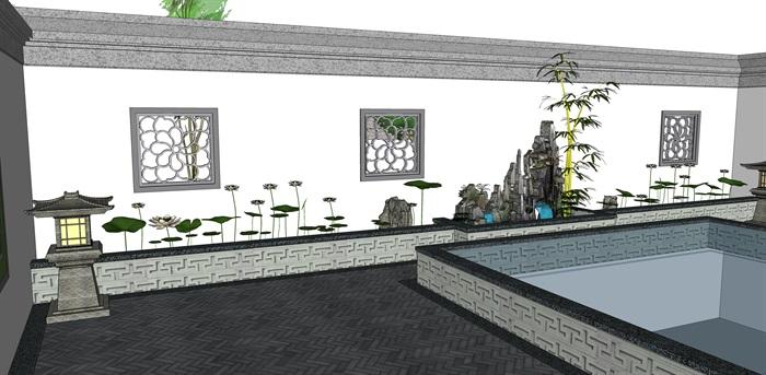 新中式别墅室内(9)