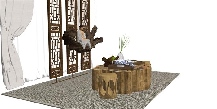 新中式茶台(3)