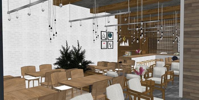 现代北欧风格咖啡馆室内(4)