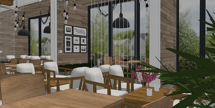 现代北欧风格咖啡馆室内(6)