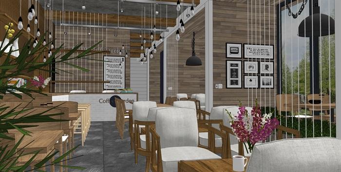 现代北欧风格咖啡馆室内(7)