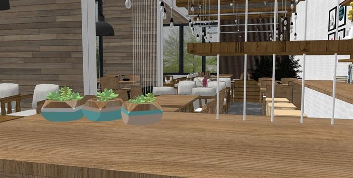 现代北欧风格咖啡馆室内(8)