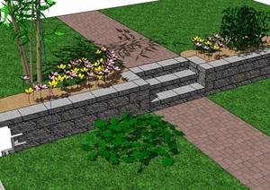 园林景观台阶踏步设计SU(草图大师)模型